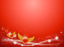 Winged love heart background Royalty Free Stock Images