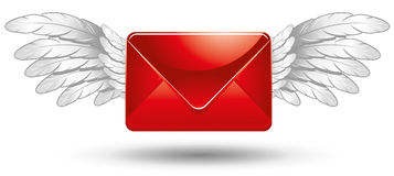 Winged Mail Royalty Free Stock Photo