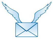 Winged mail. Vector illustration isolated Winged mail Vector Illustration