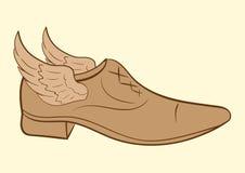 Winged male shoe Royalty Free Stock Image