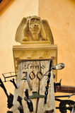 Winged monster statuette. In Sibiu Royalty Free Stock Photo