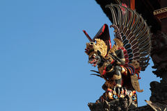 Winged monster in a Ubud palace. Royalty Free Stock Photos