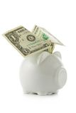 Winged piggy bank Royalty Free Stock Photography