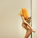 Winged pole dancer Royalty Free Stock Images