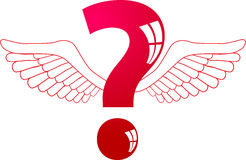 Winged-question Royalty Free Stock Image