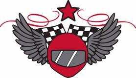 Winged Race Helmet Royalty Free Stock Image