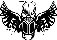 Winged Scarab Royalty Free Stock Photography