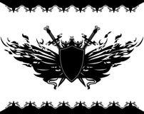 Winged Schild Lizenzfreies Stockbild