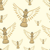 Winged seamless king Royalty Free Stock Photography