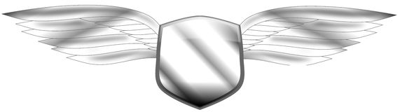 Winged shield Stock Photo