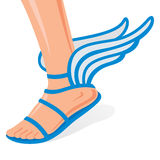Winged shoes Royalty Free Stock Image