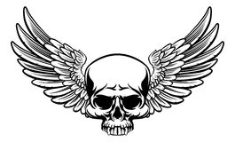 Winged Skull Stock Images