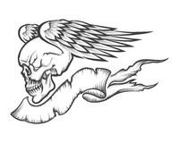 Winged Skull Royalty Free Stock Images