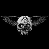 winged skull illustration Stock Photography