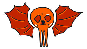 Winged skull tattoo Royalty Free Stock Photo