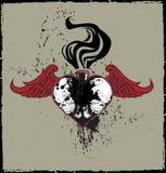 Winged Skulls Heart Royalty Free Stock Photo
