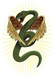 Winged snake Stock Photography