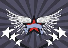 Winged star. Background in vectro format stock illustration