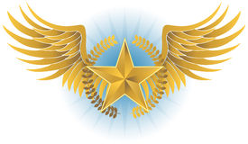 Winged Star Royalty Free Stock Images