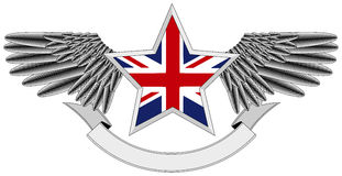 Winged star with UK Flag Stock Photos