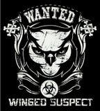 Winged suspect royalty free illustration