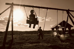 Winged swing Stock Photography