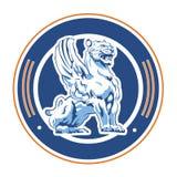 Winged tiger emblem Royalty Free Stock Photos