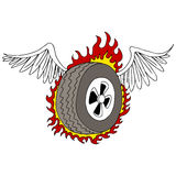 Winged Tire Royalty Free Stock Photos