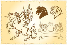 Free Winged Unicorn Illustration Royalty Free Stock Images - 19847219