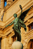 Winged Victory. Holding wreath. Statue in front of the Hapsburg Palace, Vienna, Austria Royalty Free Stock Photography