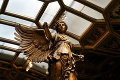 Winged Victory of the ancient sculpture of Nick stock photos