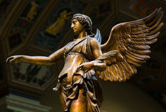 Winged Victory ancient sculpture of Nika.  Royalty Free Stock Photos