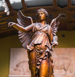 Winged Victory ancient sculpture of Nika.  Royalty Free Stock Photography