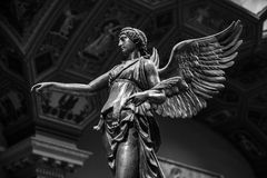 Winged Victory ancient sculpture of Nika.  Royalty Free Stock Image