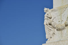 Winged Victory (with copy space) Royalty Free Stock Images
