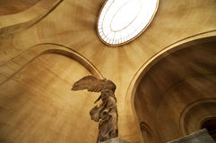 Winged victory of Samothrace 2. The winged victory of Samothrace (Nike) at the Louvre museum, Paris Royalty Free Stock Photos