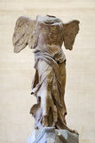 The Winged Victory of Samothrace, also called the Nike of Samoth Royalty Free Stock Photos