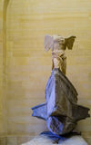 The Winged Victory of Samothrace. Also called the Nike of Samothrace, ancient Greek marble statue in the Louvre Museum, Paris, France Royalty Free Stock Image