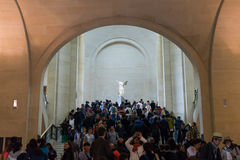 Winged Victory of Samothrace. Famous sculpture in Louvre Museum,Paris France Stock Photos