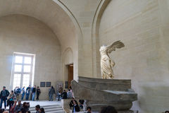 Winged Victory of Samothrace. Famous sculpture in Louvre Museum,Paris France Stock Photo