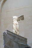 Winged Victory of Samothrace. Famous sculpture in Louvre Museum,Paris France Royalty Free Stock Image