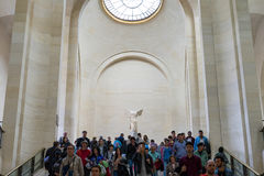 Winged Victory of Samothrace. Famous sculpture in Louvre Museum,Paris France Royalty Free Stock Photography