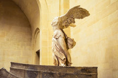 Winged Victory of Samothrace. Louvre Museum interior Winged Victory of Samothrace Royalty Free Stock Image