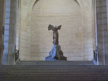 Winged victory of Samothrace. Or Nike of Samothrace in the Louvre museum, Paris, France. The sculpture has been prominently displayed at the Louvre since 1884 Stock Photo