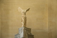 Winged Victory of Samothrace. Statue of Winged Victory of Samothrace in Louvre museum, Paris, France Stock Photos
