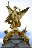 Winged victory sculpture. And sky Royalty Free Stock Photography