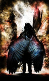 Winged Angel Warrior Stock Images