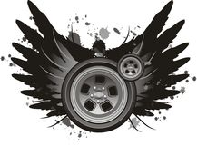 Winged wheel vector Stock Images