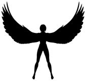 Winged woman Stock Photos