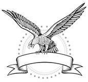 winges орла знамени Стоковая Фотография